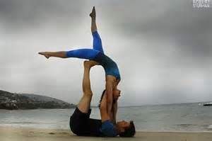 yoga poses for two people - Bing images