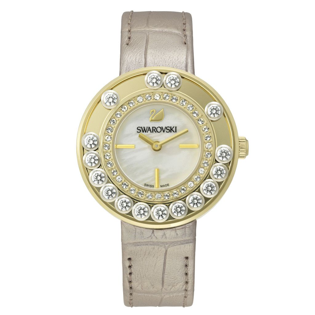 SWAROVSKI LOVELY CRYSTALS LIGHT GOLD TONE WATCH 5027203 | Duty Free Crystal