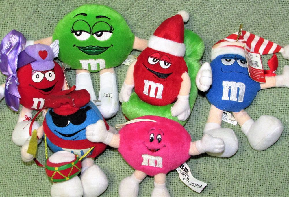 M Ms Plush Lot Collectibles Mini Stuffed Characetrs Blue Vintage