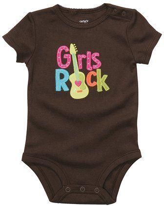 """""""Girls Rock"""" Carter's Top-Snap Bodysuit"""