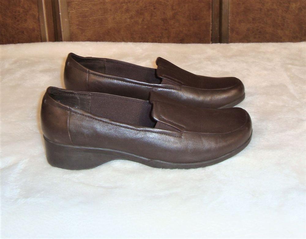 Cloudwalkers Sz 12WW Women's Dark Brown Leather Marvel 7048 Slip On Loafers  #Cloudwalkers #LoafersMoccasins