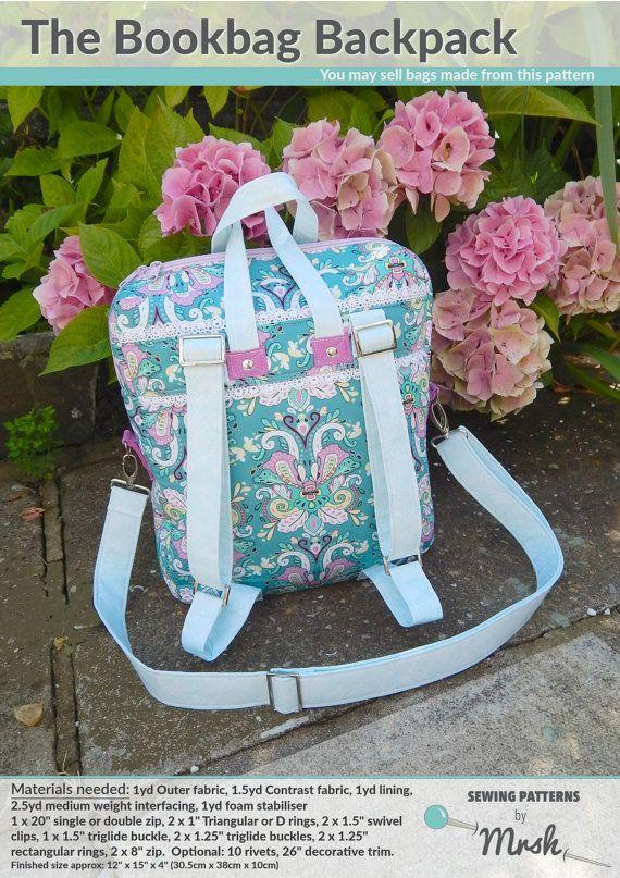 Die Schultasche Rucksack Tasche PDF von SewingPatternsbyMrsH | Bags ...