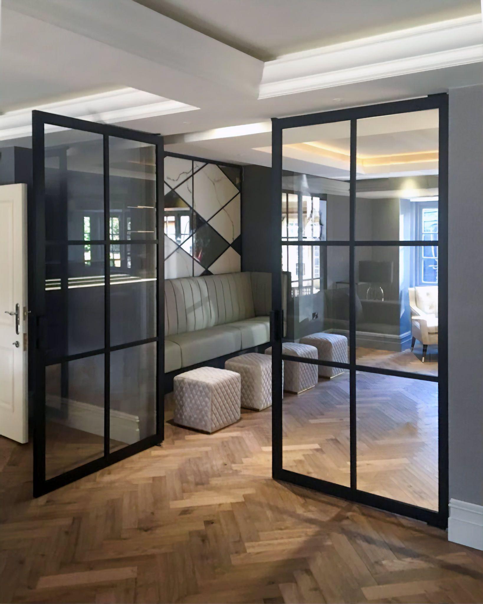 Double Crittall Door Living Room Double Doors Internal Glass Doors Double Doors Interior