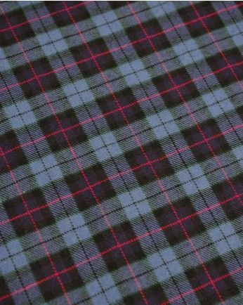 Brushed Cotton Fabric | Blue & Pink Tartan | Truro Fabrics