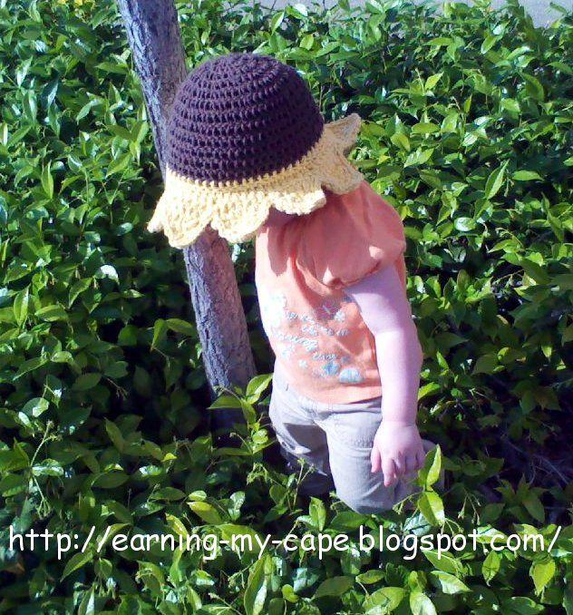Sunflower Sun Hat (free pattern)