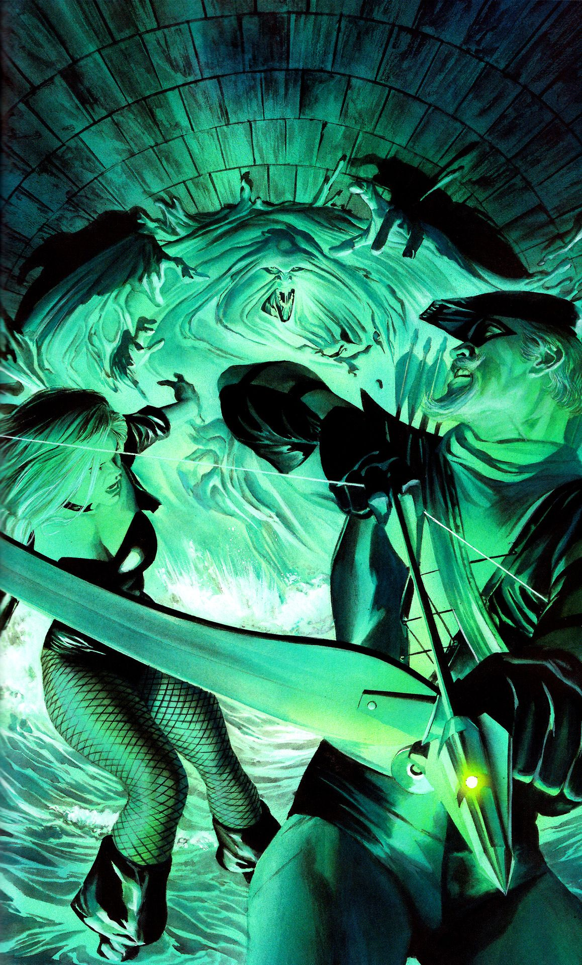 Green Arrow & Black Canary vs. Clayface by Alex Ross