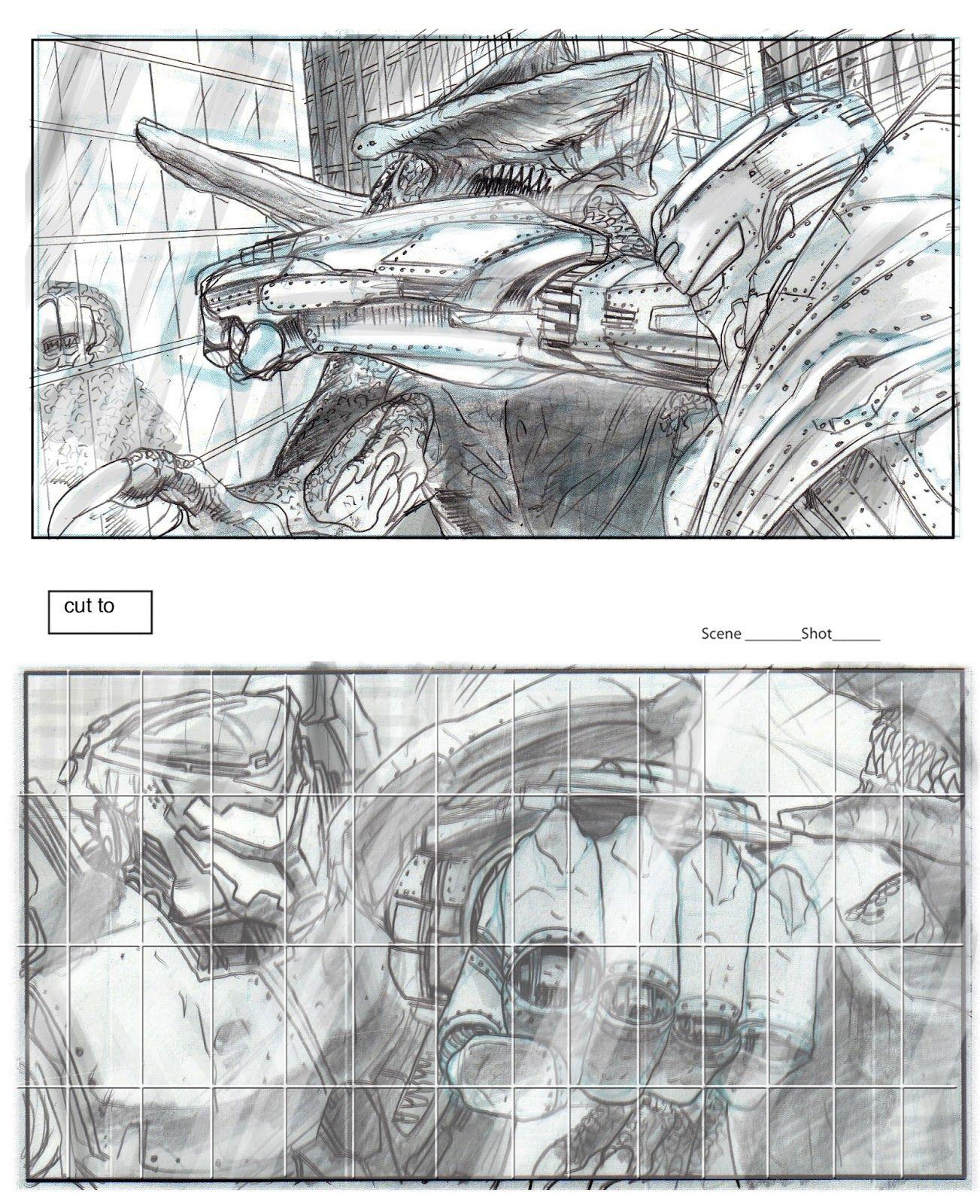 Pacific Rim Storyboard by Rob McCallum | Titanes del pacifico, La costa del pacífico, Dibujos
