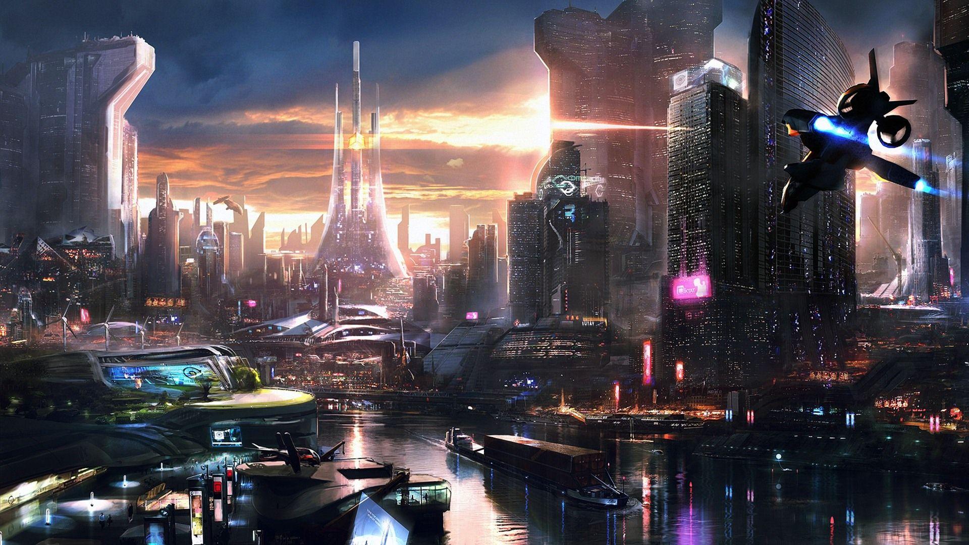 Download Free Cyberpunk Backgrounds Futuristische Stadt Sci Fi Stadt Cyberpunk City