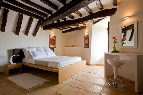 Mediterranes Schlafzimmer ~ Rustikal minimalistische schlafzimmer ideen bauen