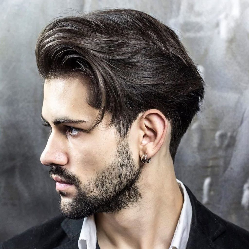 mens hairstyles for long face shape and braidbarbers and
