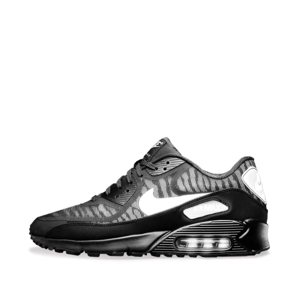93a9a78f44 Nike Air Max 90 Comfort Premium Tape 'Reflective Pack' (Black & Metallic  Silver)