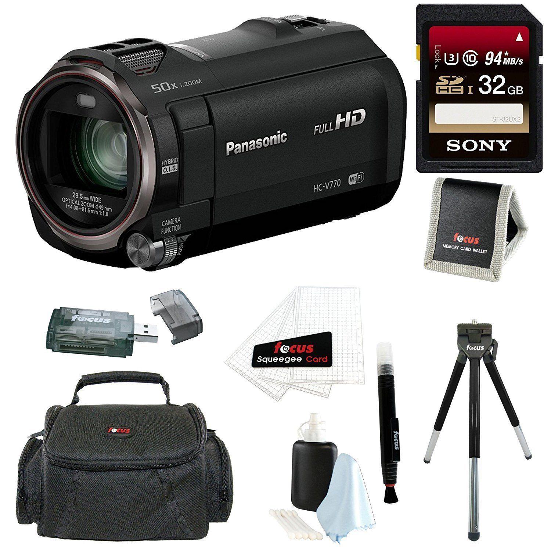 Panasonic Sd 5 Hd Camcorder Abwnet Hc V385 Kamera Video V770 With Wireless Smartphone Twin Capture 32gb Card