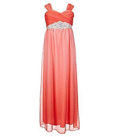 5b7fe47882a Xtraordinary Big Girls 716 Ombre Maxi Dress  Dillards