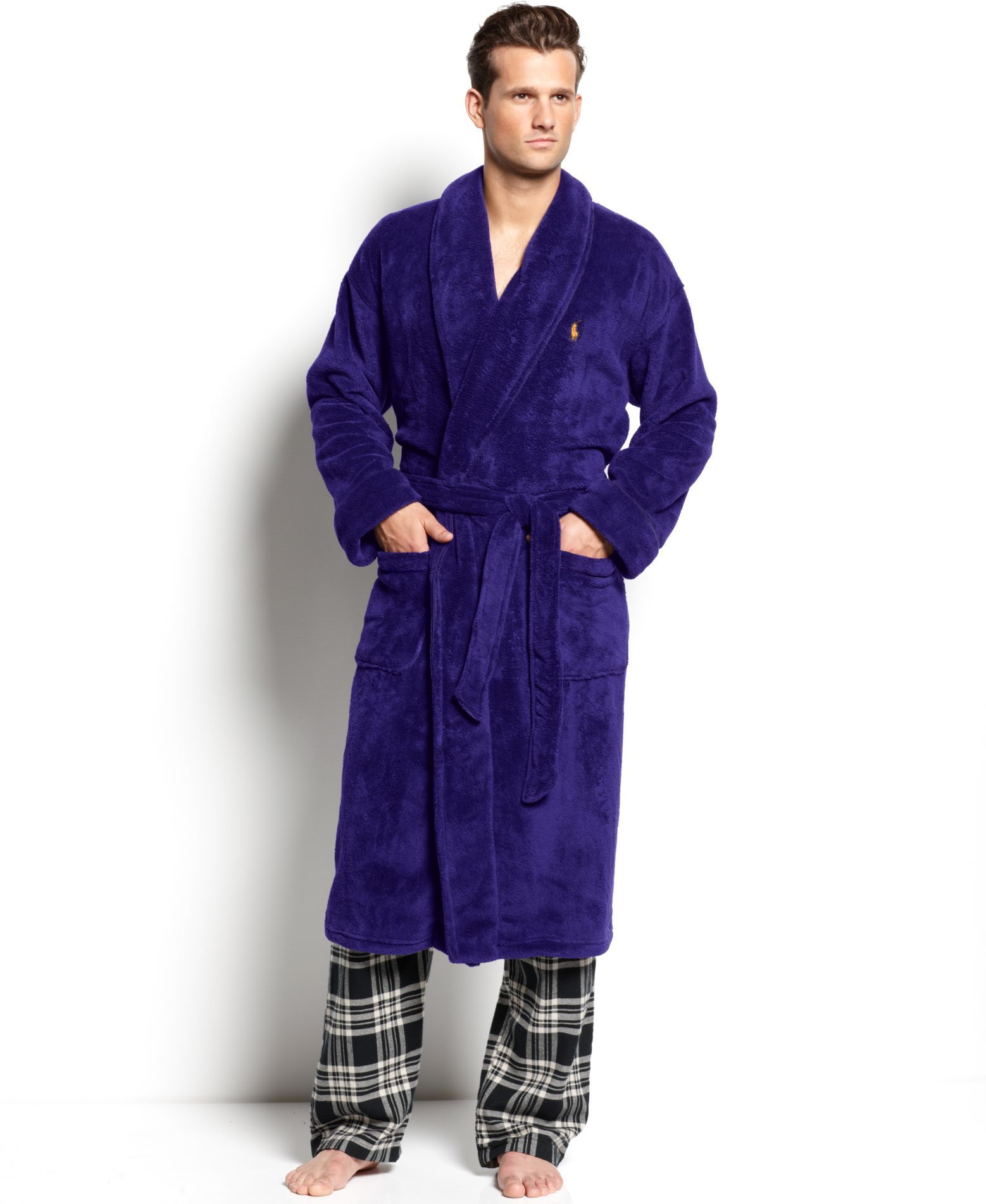 Polo Ralph Lauren Men s Sleepwear, Fleece Shawl Collar Robe ... 9f0494099ba