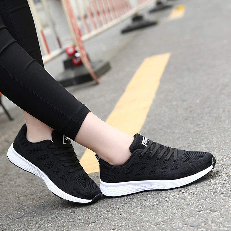 71f44608 Zapatillas de Deportivos de Running para Mujer Gimnasia Ligero Sneakers  Negro Azul Gris Blanco 35-