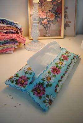 Beach Vintage: Project Day: Hankerchief Tissue Holder
