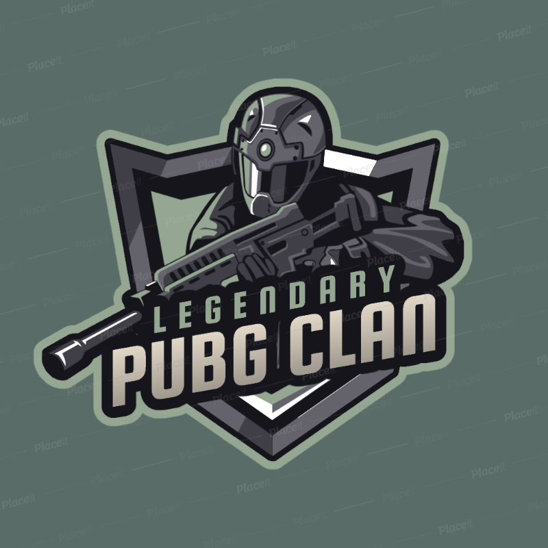 Placeit FPS Game Logo Generator with an Army Soldier