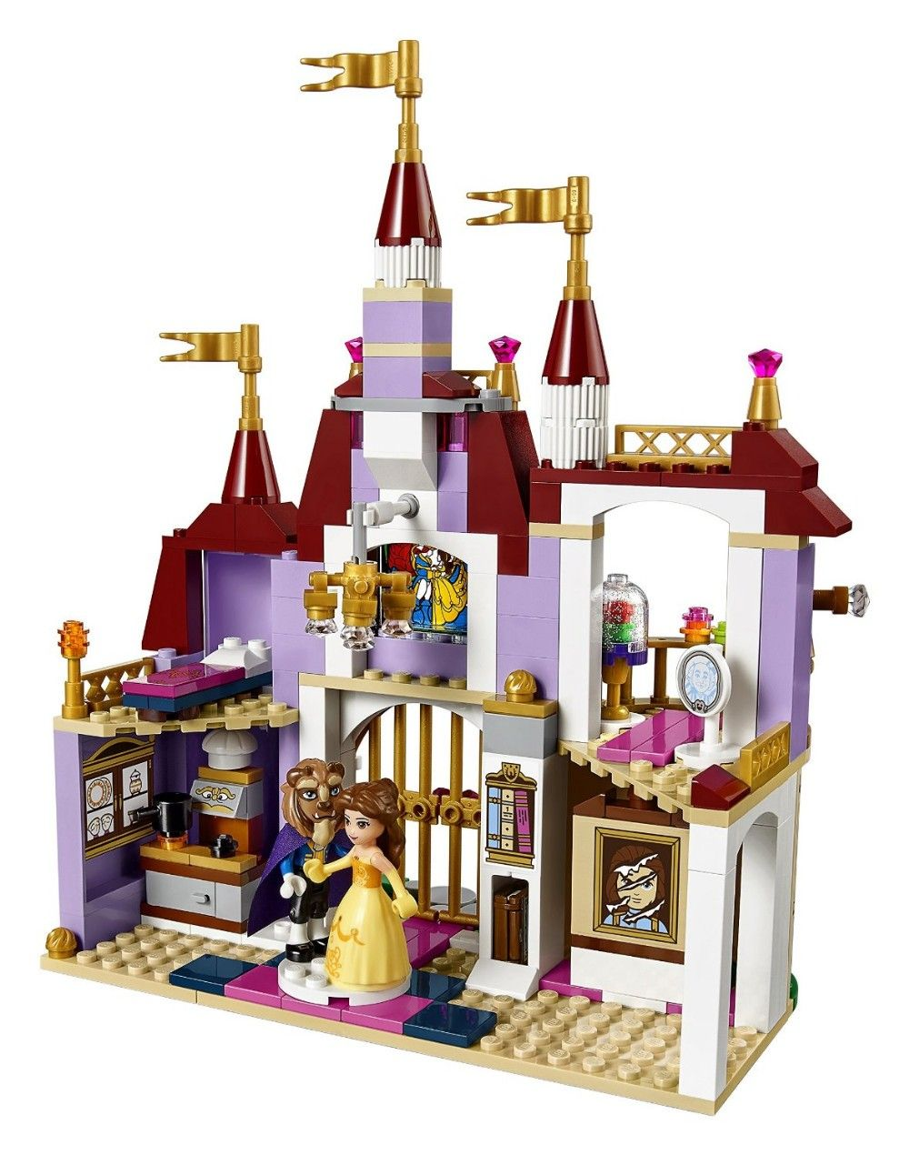 Figures Model Toys Beauty and The Beast Princess Belle/'s Enchanted Castle Kids