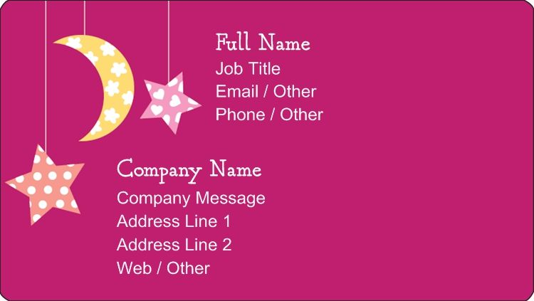 Business card stickers premium business cards daycare