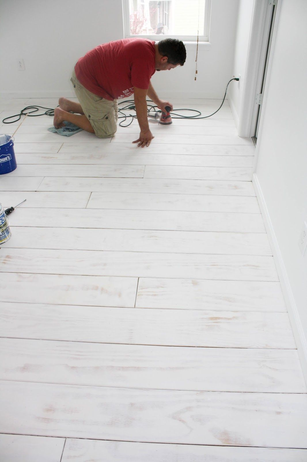 Diy Planked Floors With Images Plywood Plank Flooring Diy