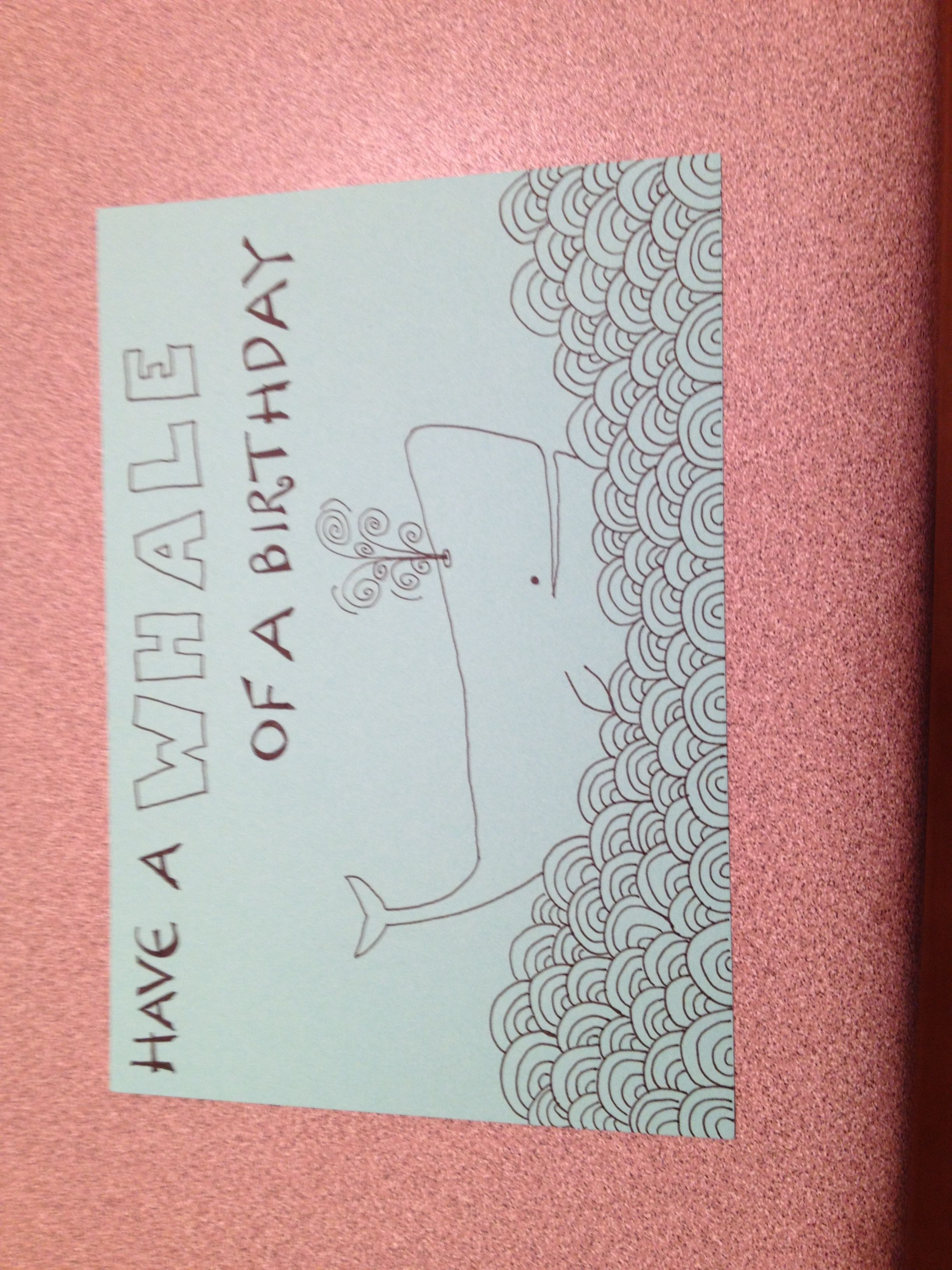 Hand drawn birthday card for my dad Crafts Pinterest