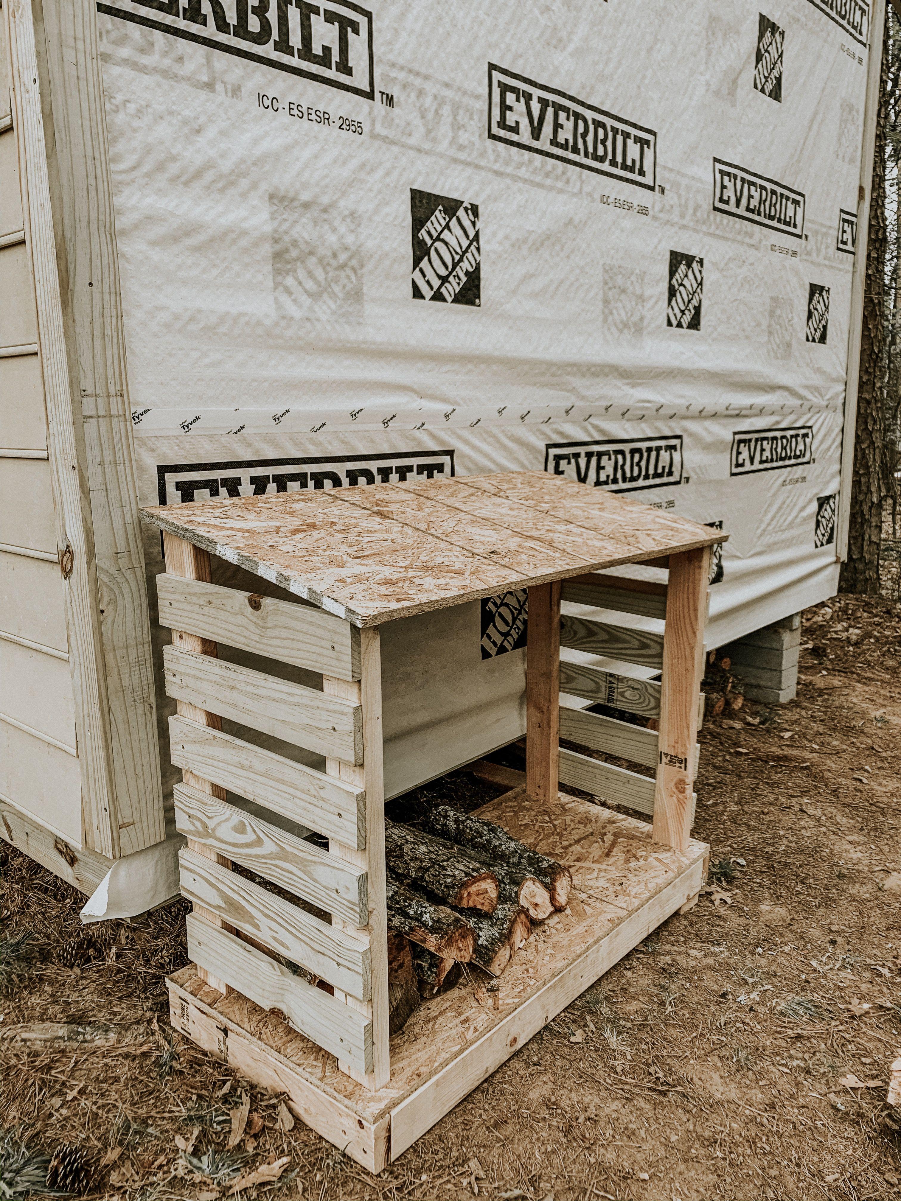 diy outdoor firewood rack outdoor