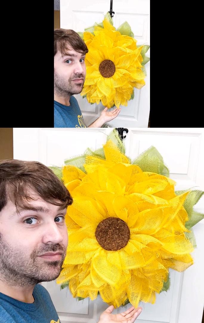 Photo of Ein Sonnenblumenkranz ist ein perfektes DIY-Kranzprojekt für Herbst und Sommer. Dies ist eine …