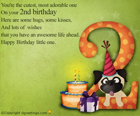 Dgreetings 2nd birthday card birthday card pinterest birthdays dgreetings 2nd birthday card m4hsunfo Image collections