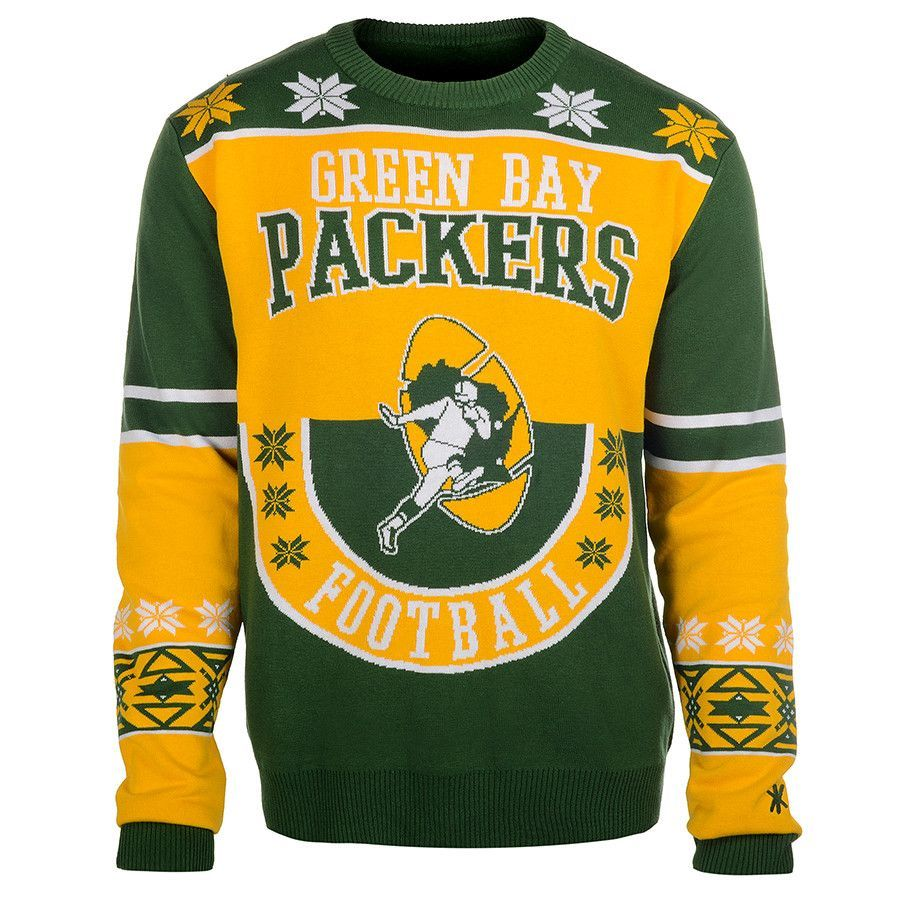 Green Bay Packers Cotton Retro Sweater Retro Sweater Tacky Sweater Sweaters