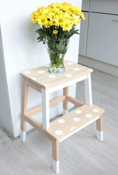 Ikea Hacks Bekvam Step Stool Clean And Scentsible Deco Maison Tabouret Ikea Diy Deco