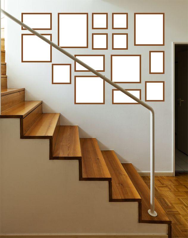 quadros na escada   HOME INTERIOR   Pinterest   Bilderwand und ...