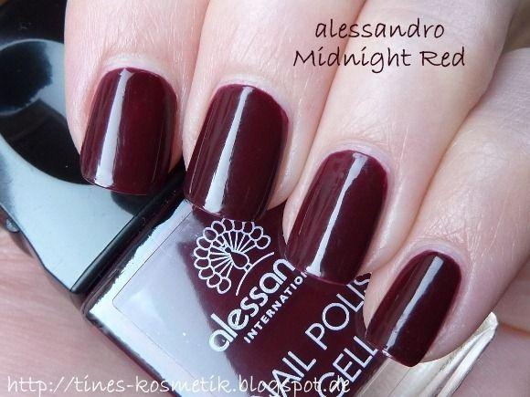 alessandro Midnight Red | nail polishes | Nail Polish ...