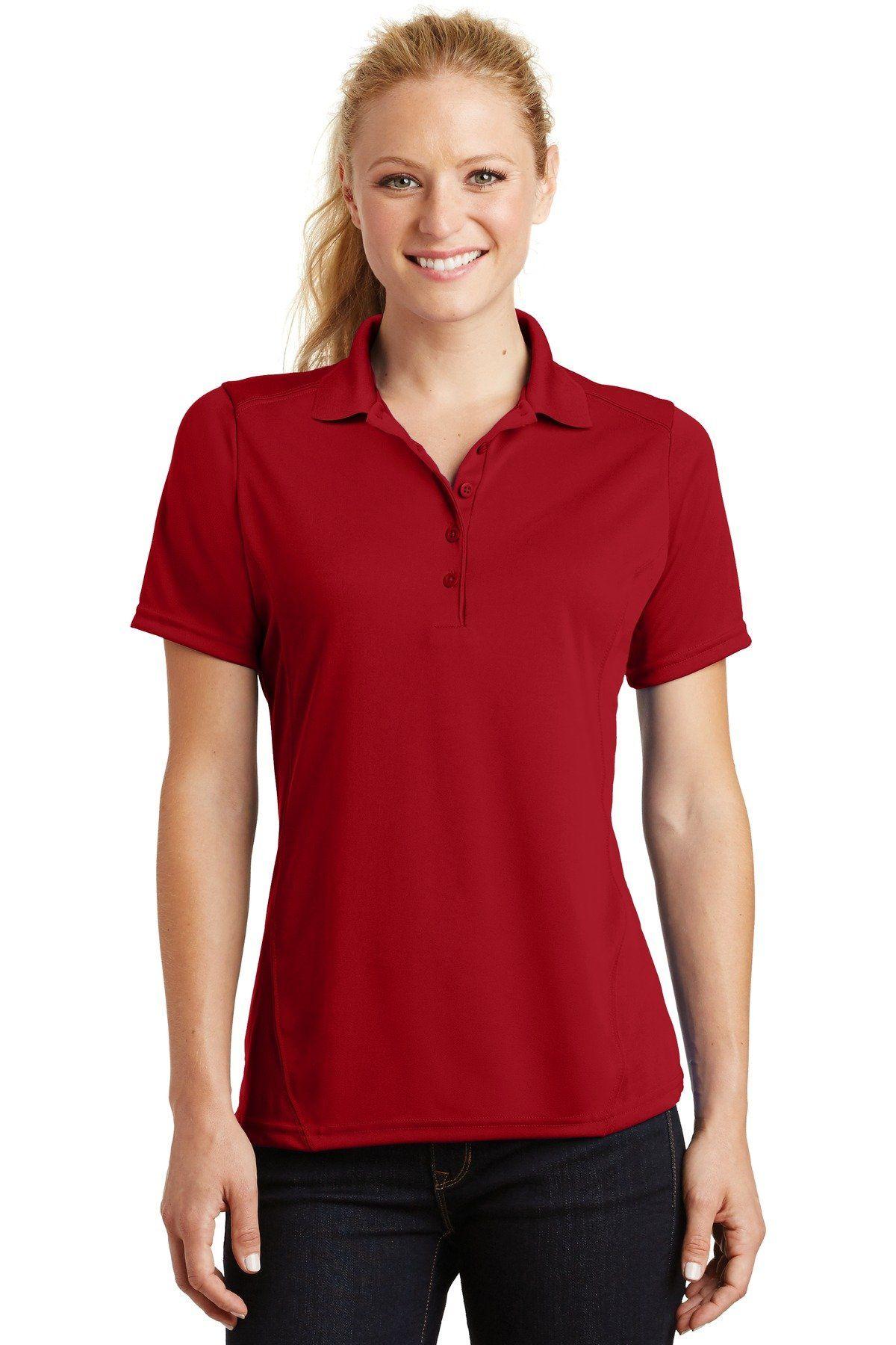 SportTek Ladies Dry Zone Raglan Accent Polo L475 True Red