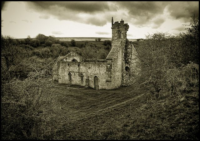 St Martins, Wharram Percy   Wharram Percy is a deserted medieval village site on the western edge of the chalk Wolds in North Yorkshire, England. It is perhaps the best-known deserted medieval village in all of England. .
