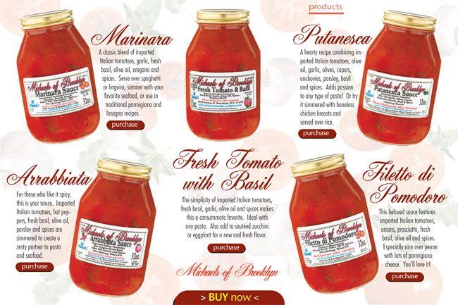 Michaelu0027s of Brooklyn Pasta Sauces lower sodium Food Products - cheddar käse aldi