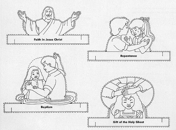 lds pictures to color | Make sets of the finger puppets below for ...