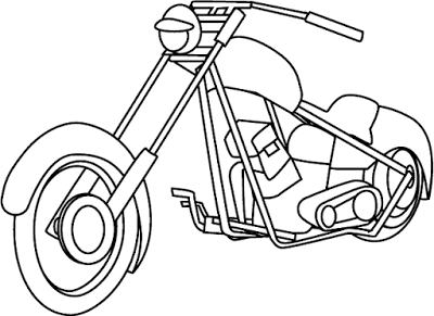 Aneka Gambar Mewarnai Gambar Mewarnai Sepeda Motor Untuk Anak Paud