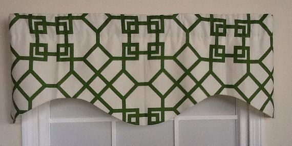 Garden path shaped valance in green by Stbarthsdreamin on Etsy, $39.99