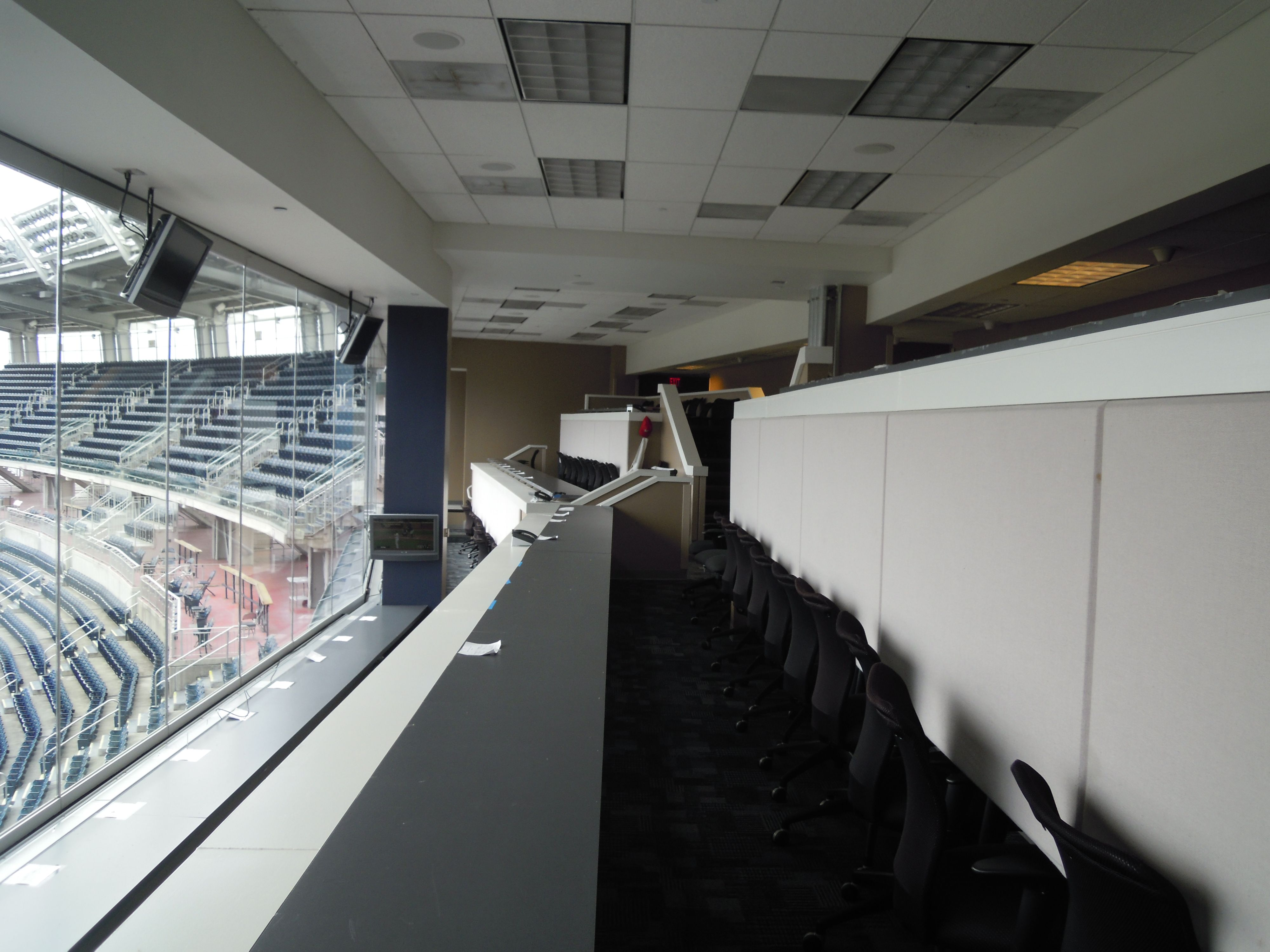 the press box (not broadcast booth) Washington nationals