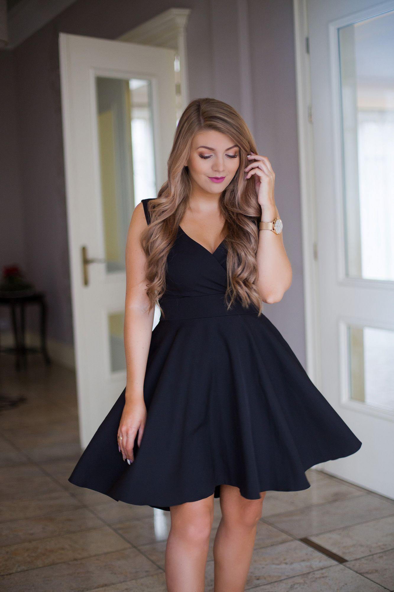66086ce325441f Seksowna i elegancka sukienka - kopertowa góra odcinana pod biustem  szerszym paskiem, plecy z dekoltem