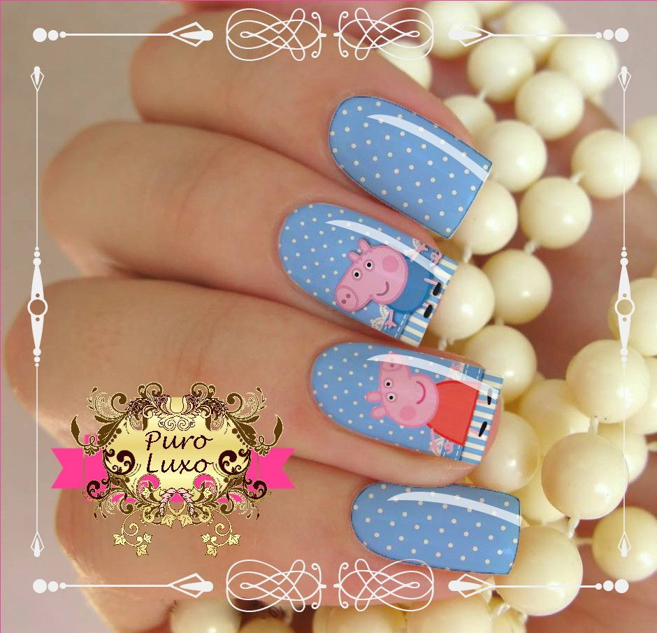 Peppa Pig Nail Art Google Search Arte De Uñas Cerdo