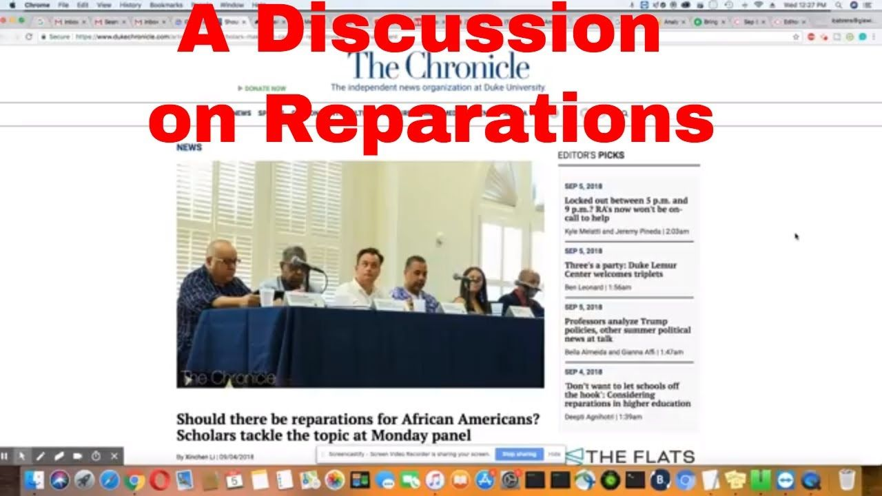 Reparations Discussion At Duke University Duke
