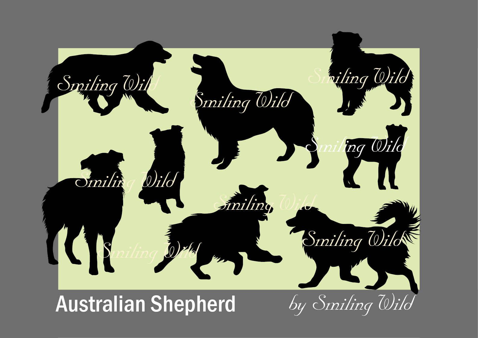 Australian Shepherd svg silhouette vector graphic art file dog svg ...