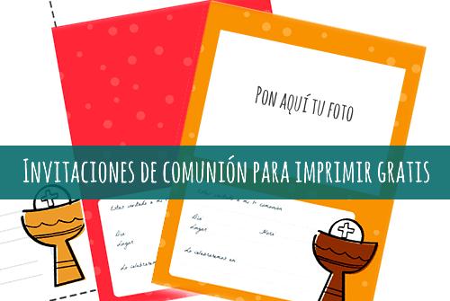 Invitaciones De Comuni U00f3n Con Foto