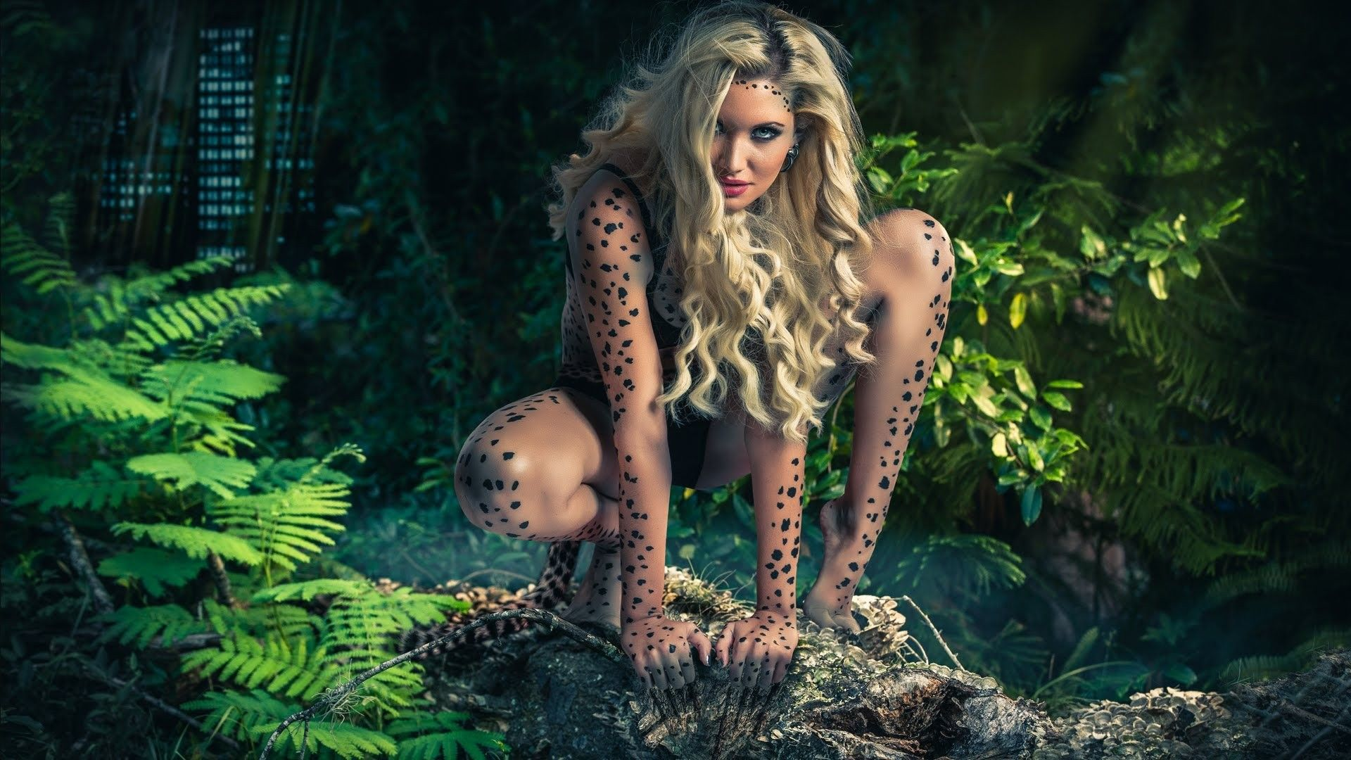Furry cheetah girl
