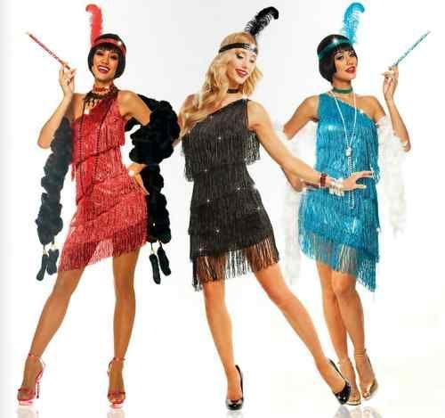 84fa5035f4b 1920s Roaring 20 s Adult Womens Dazzling Flapper Gatsby Costume Dress Black  Red