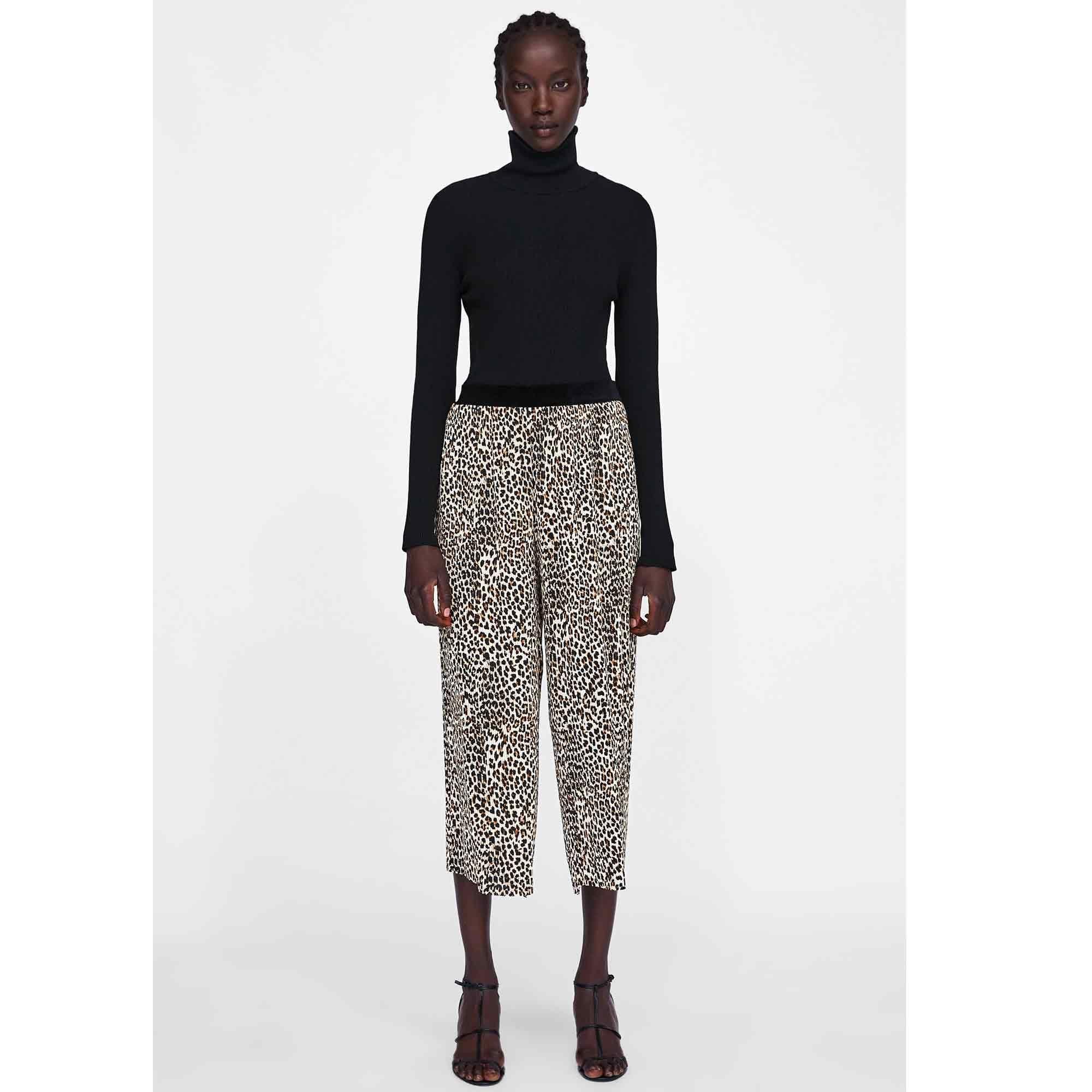 Un Pantalon Leopard Zara Moda Zara Pantalones