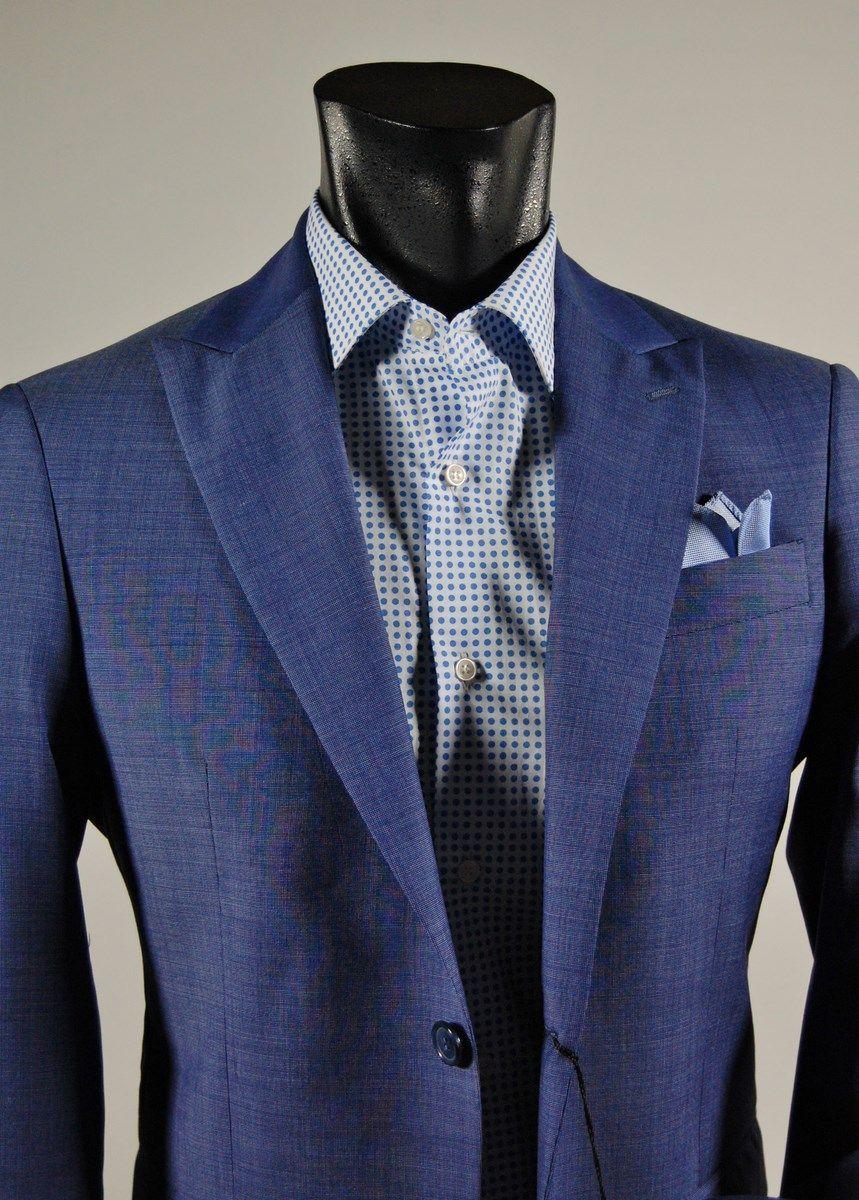 9284671fcc Abito slim fit viapiana in fresco lana tollegno azzurro | Abiti Uomo ...