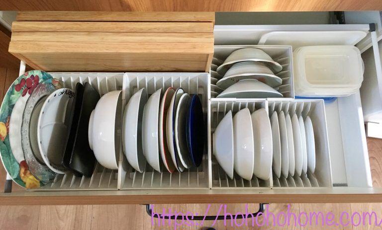 キッチンカップボード収納 お皿もとにかく立てて収納する 自己