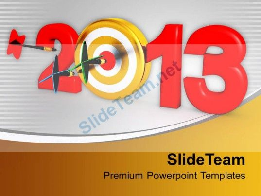 dart strike the goal new year powerpoint templates ppt themes and graphics 0113 powerpoint
